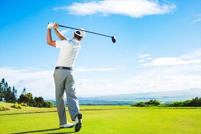ゴルフのフィニッシュ