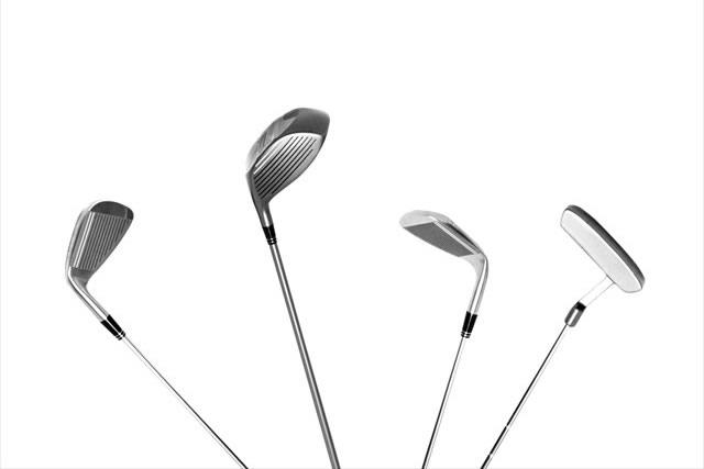 4本のゴルフクラブ