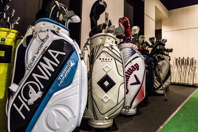 六本木店で無料レンタルできるゴルフクラブ