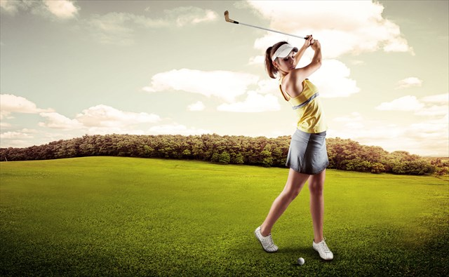 ゴルフで空振り