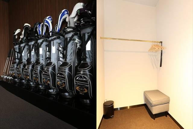 無料レンタルできるゴルフクラブと更衣室