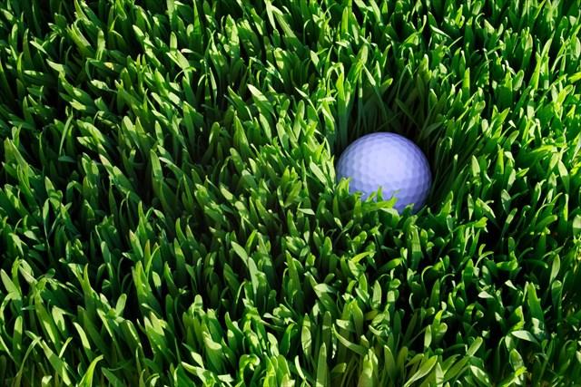 ラフに入ったゴルフボール