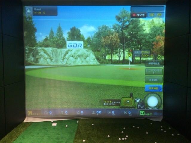 データ分析に使用したゴルフシミュレーションの画面