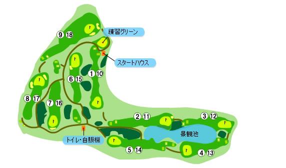 アコーディア・ガーデン志津のコース全体マップ