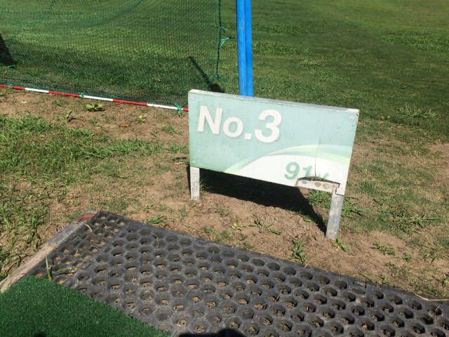 Aコースの3番ホールは91ヤード