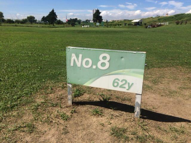 Aコースの8番ホールは62ヤード