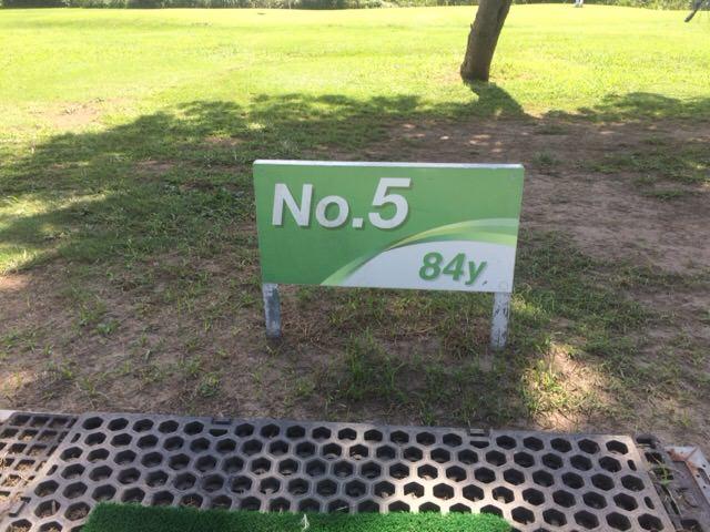 Bコースの5番ホールは84ヤード