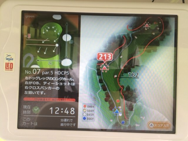 7番ホールのコースマップ
