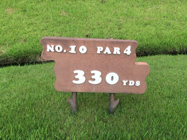 NO.10 PAR4 330YDS