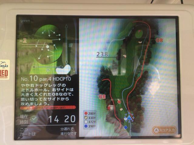 10番ホールのコースマップ