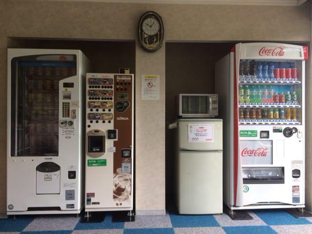 クラブハウス内にある自動販売機
