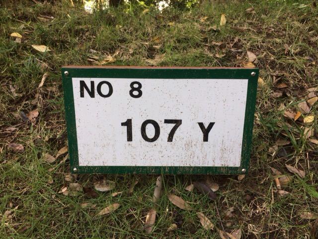 8番ホールは107ヤード
