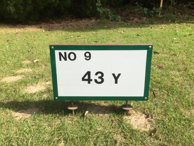 9番ホールは43ヤード