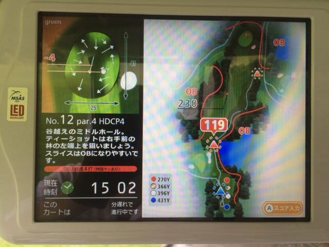 12番ホールのコースマップ