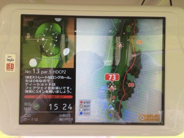 13番ホールのコースマップ