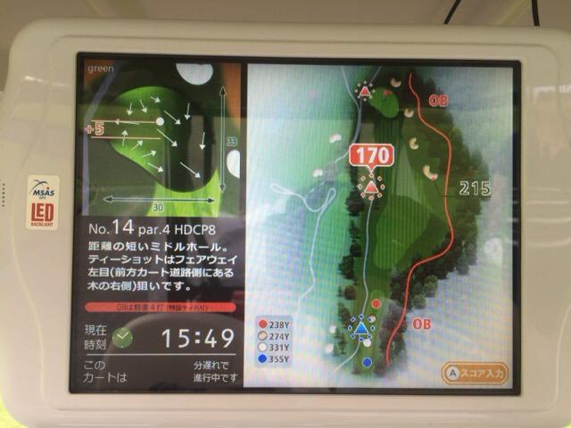 14番ホールのコースマップ