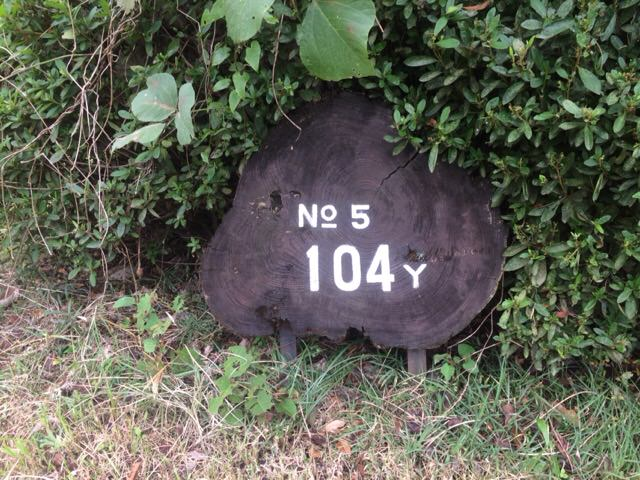 5番ホールのレギュラーティーは104ヤード