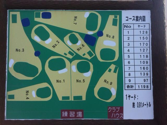 大岳ショートコースのコースマップ