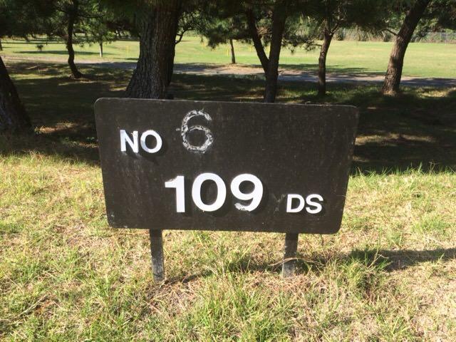 6番ホールは109ヤード