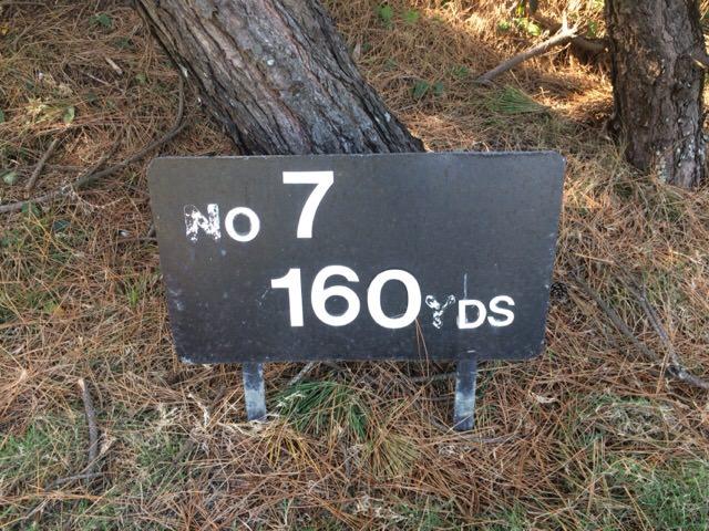 7番ホールは160ヤード