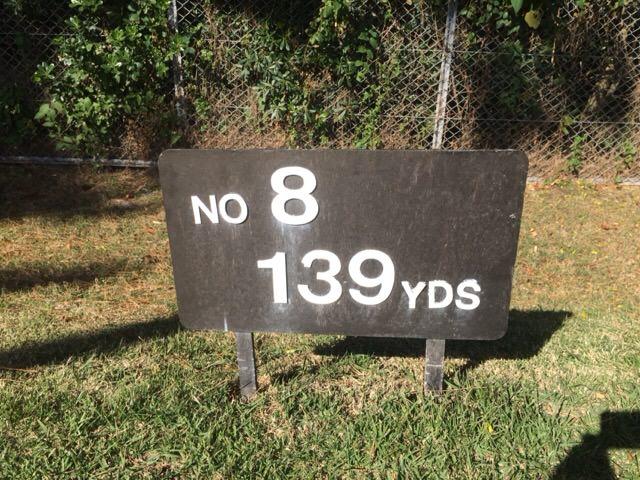 8番ホールは139ヤード