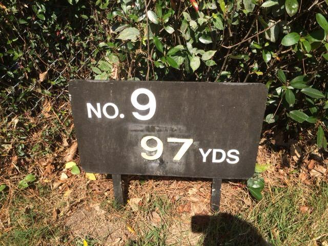 9番ホールは97ヤード
