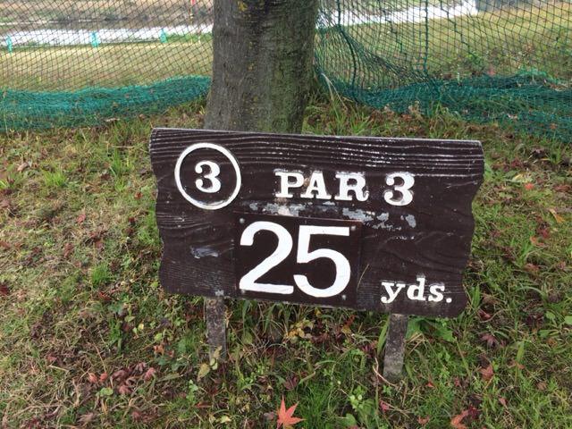3番ホールは25ヤード