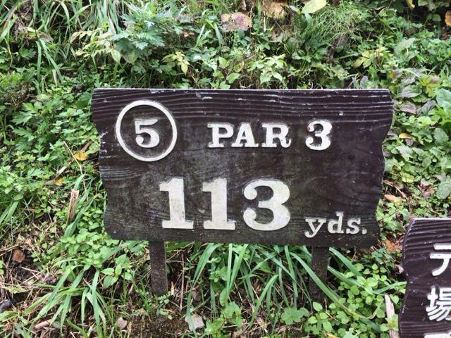 5番ホールは113ヤード
